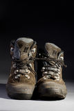 Old boots. Pair of old  trecking boots Royalty Free Stock Photos