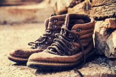 Old boots Royalty Free Stock Photo
