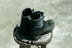 Old boots footwear Royalty Free Stock Image