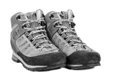 Old boots on white background Royalty Free Stock Photography