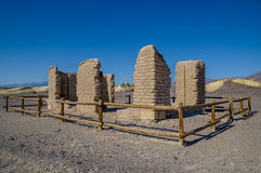 Old borax mine ruin in death valley national park Stock Images
