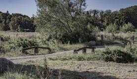 The old border bridge. Shot in Denmark royalty free stock photos
