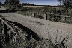 The old border bridge. Shot in Denmark royalty free stock image