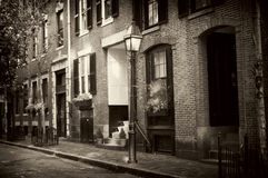 Old boston. Beautiful sepia toned image of old beacon hill in boston massachusetts Royalty Free Stock Photo