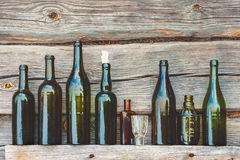 Free Old Bottle And Glass Royalty Free Stock Image - 56120366