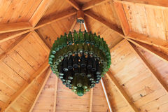 Old Bottle Chandelier Royalty Free Stock Photos