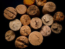 Old bottle cork, view from above Stock Photos
