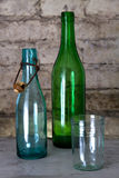 Old bottle and a glass Royalty Free Stock Images