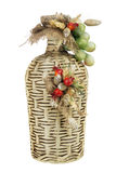 Old bottle of wine decorated. Royalty Free Stock Image