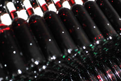 Old bottles of red wine Royalty Free Stock Photography