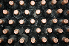 Old bottles of vine Royalty Free Stock Image