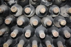 Old bottles of vine Stock Photography