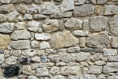 Old  Boulder Wall Royalty Free Stock Photography