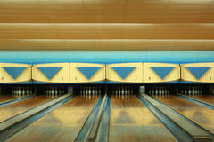 Old bowling. Empty bowling alley Stock Photography