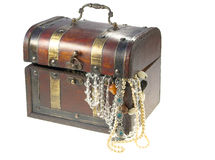 Old box. Box and jewelery Royalty Free Stock Photography