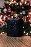 Old box camera Royalty Free Stock Images