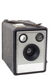 Old box camera on medium format isolated Stock Photo
