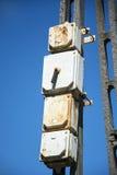 Old box on a pole Stock Photos