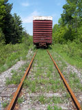 Old Boxcar On Tracks