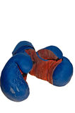 Old boxing gloves Stock Images
