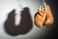 Old boxing gloves Stock Photography