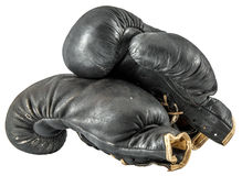 Old boxing gloves Royalty Free Stock Photography