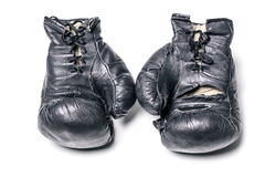 Old boxing gloves Stock Image