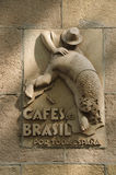 Old Bracafé Sign, Barcelona Stock Photos