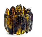 Old bracelet of Baltic amber Stock Images