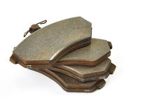 Old brake pads Royalty Free Stock Photos