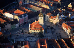 Old Brasov in Romania stock photos