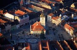 Old Brasov in Romania. Center of the old town of Brasov City (Transilvania, Romania Stock Photos