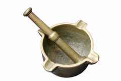 Old brass ashtray Stock Photography