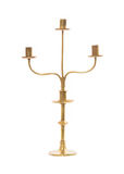 Old brass candle holder on white background Stock Image