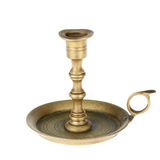 The old brass candlestick. Stock Photography
