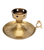 Old brass candlestick Royalty Free Stock Photography