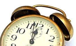 Old brass clock Stock Photos