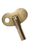 Old brass clock key Stock Images