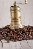 Old brass coffee gringer Royalty Free Stock Images