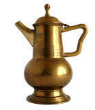 Old brass coffee pot Royalty Free Stock Photo