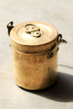 Old brass container Royalty Free Stock Photos