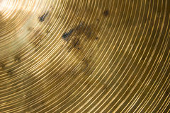 Old brass cymbal texture and rust. Stock Photo