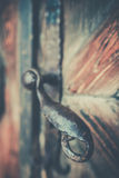 Old brass door handle Royalty Free Stock Photography