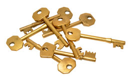 Old Brass Door Keys Stock Photo