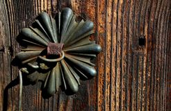 Old brass doorknob Royalty Free Stock Images