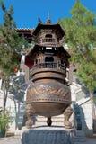 Old Brass Dragon Incense burner Stock Images