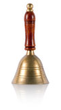 Old brass hand bell Royalty Free Stock Images