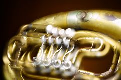 An old brass instrument Royalty Free Stock Photos
