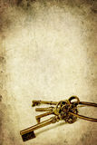 Old Brass Key Isolated on White Stock Photo