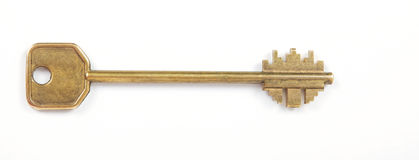 Old brass key Royalty Free Stock Photos